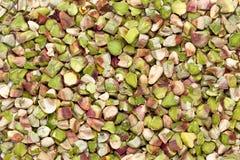Pistacia orgánico secado y del corte Vera del pistacho Imagenes de archivo