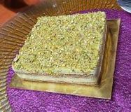 Pistacjowy tiramisu tort zdjęcie stock