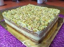 Pistacjowy tiramisu tort zdjęcia stock