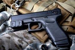 Pistal automatic short hand gun. Stock Photography