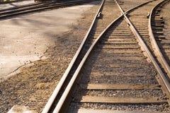 Pistas 2 del tren Fotografía de archivo libre de regalías