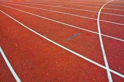 pistas atléticas 4x100 Foto de archivo libre de regalías