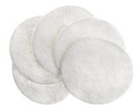 Pistas cosméticas redondas del algodón Imágenes de archivo libres de regalías