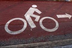 Pistas da bicicleta fotografia de stock