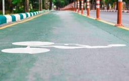 Pistas da bicicleta Fotos de Stock