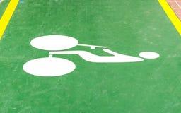 Pistas da bicicleta para ciclistas imagem de stock royalty free