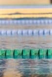 Pistas da nadada na piscina fotografia de stock royalty free