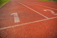 Pistas da trilha do atletismo Fotografia de Stock