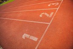 Pistas da trilha do atletismo Imagens de Stock Royalty Free
