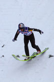 Pistas de Adán MALYSZ del puente de esquí imagen de archivo
