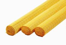 Pistas de bambú del sushi del palillo en blanco imágenes de archivo libres de regalías