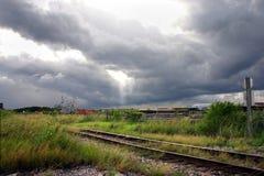 Pistas de ferrocarril Fotos de archivo libres de regalías