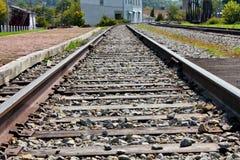 Pistas de ferrocarril Foto de archivo libre de regalías