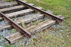 Pistas de ferrocarril Fotografía de archivo