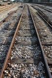Pistas de ferrocarril foto de archivo