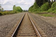 Pistas de ferrocarril Imagen de archivo libre de regalías