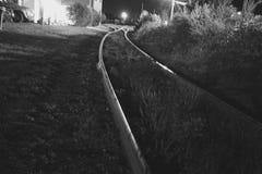 Pistas de ferrocarril abandonadas Fotos de archivo libres de regalías