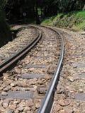 Pistas de ferrocarril de la montaña Foto de archivo libre de regalías