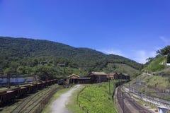 Pistas de ferrocarril de Santos Jundiaí Imagenes de archivo