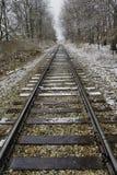 Pistas de ferrocarril en cantón, Ohio foto de archivo libre de regalías
