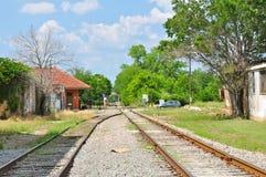 Pistas de ferrocarril en Tyler, Tejas imágenes de archivo libres de regalías