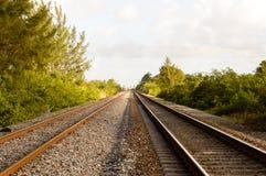 Pistas de ferrocarril de la Florida Imágenes de archivo libres de regalías