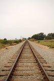 Pistas de ferrocarril medias Imagenes de archivo