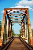 Pistas de ferrocarril oxidadas Foto de archivo