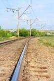Pistas de ferrocarril que desaparecen Fotos de archivo libres de regalías