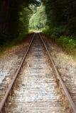 Pistas de ferrocarril rectas Fotos de archivo libres de regalías