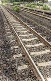 Pistas de ferrocarril rurales Fotos de archivo