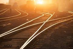 Pistas de ferrocarril vacías Fotografía de archivo libre de regalías