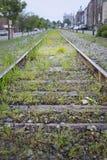 Pistas de ferrocarril viejas Fotografía de archivo