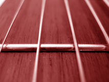 Pistas de la guitarra Imagen de archivo libre de regalías