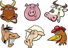Pistas de los animales del campo de la historieta fijadas