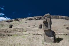 Pistas de Moai de la isla de pascua Fotos de archivo libres de regalías