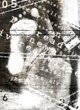 Pistas de pies Imagen de archivo libre de regalías