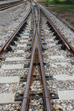 Pistas de rachadura da trilha de estrada de ferro Imagem de Stock