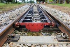 Pistas de rachadura da trilha de estrada de ferro Imagem de Stock Royalty Free