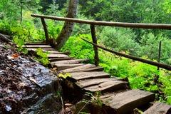 Pistas de senderismo del Cáucaso del norte Imagen de archivo libre de regalías