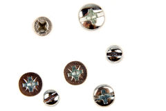 Pistas de tornillo foto de archivo libre de regalías