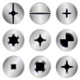 Pistas de tornillo fijadas ilustración del vector