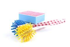 Pistas del cepillo y de fregado de la colada foto de archivo libre de regalías