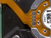 Pistas del contacto en Circu flexible Imagenes de archivo