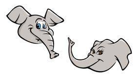 Pistas del elefante Fotografía de archivo