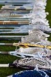 Pistas del lacrosse en la tierra Fotos de archivo libres de regalías