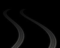 Pistas del neumático Foto de archivo libre de regalías