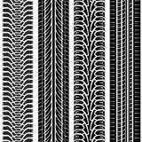 Pistas del neumático Fotos de archivo