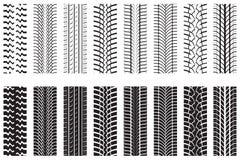 Pistas del neumático Ilustración del Vector