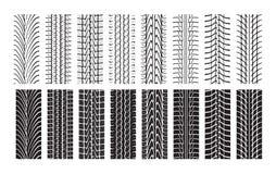 Pistas del neumático Stock de ilustración